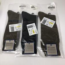 New NORDSTROM Dress Socks 3 Pair Mens XL Fits 12-14 NWT Egyptian Cotton