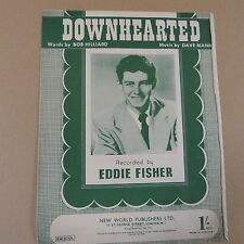 songsheet DOWNHEARTED Eddie Fisher 1953