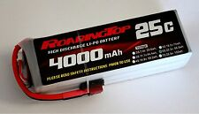 RoaringTop LiPo Battery Pack 25C 4000mAh 6S 22.2V with Deans Plug
