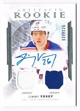 2016-17 Artifacts Rookie Relics Silver Dual Jersey Autograph Jimmy Vesey 017/125
