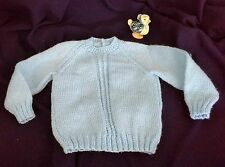 vintage look hand knitted jumper 56cm chest blue