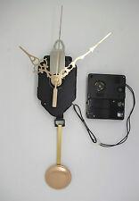 mécanisme horloge quartz à balancier + aiguilles dorées + sonnerie + balancier