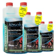500ML Cloverleaf Absolute Clear Flocculent Green & Cloudy Water Safe Pond Koi