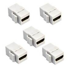 5PCS HDMI Female to Female Coupler HD Keystone Insert Wall Plate Adapter Jack