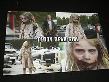 ADDY MILLER Signed 11x17 Photo Summer Teddy Bear Girl The Walking Dead Autograph