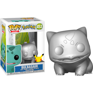 Pokemon - Bulbasaur 25th Anniversary Siver Metallic Pop Vinyl + POP PROTECTOR
