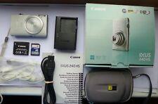 Cámara digital Canon IXUS 240 Hs PoderShot 320 Hs 16.1MP - Plata + memoria 8GB