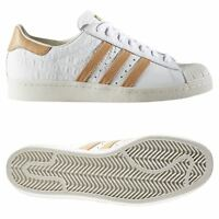 Adidas Originaux HOMME Superstar 80s Chaussures Blanches Baskets Rétro Rare