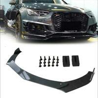 Carbon Fiber Car Front Bumper Lip Chin Spoiler Splitter Body Kit For Universal