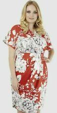 Closet Curves London slimming Red & White Floral Kimono Dress Size uk 16 summer
