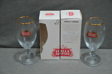 Pair Of (2) Stella Artois The Chalice 33cl 330ml Glass In Gift Box New CE M16