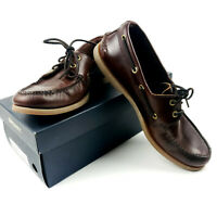 SPERRY Mens Authentic Original Top Sider Leather 2-Eye Boat Shoes Amaretto 11 M