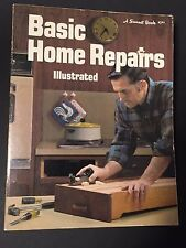 Sunset Basic Home Repairs Illustrated Paprback Book 1972 Self-Help DYI Education