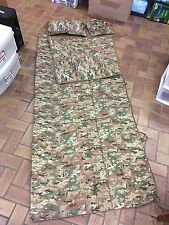 NEW! Multicam Army III Corps Poncho Liner w/ ZIPPER/ Pillow, Woobie, X-Long 80""