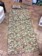"NEW! Multicam Army III Corps Poncho Liner w/ ZIPPER/ Pillow, Woobie, X-Long 80"""