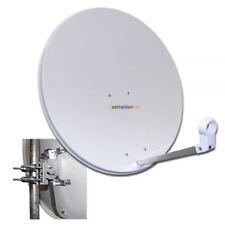 80 cm Sat Spiegel Satelliten Antenne Megasat Stahl lichtgrau hell