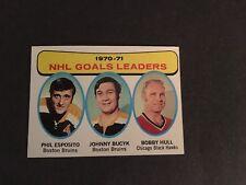 1971-72     TOPPS HOCKEY HIGH GRADE SET BREAK  #1    BOBBY  HULL LEADERS   NM+++