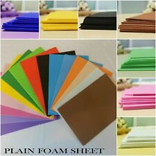 A4 EVA Craft fun Funky Plain Foam Sheets 2 mm Thick - Choose Color and Pack Size