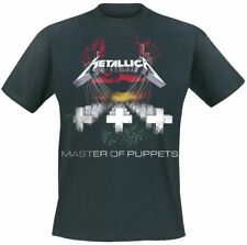 Officially METALLICA T Shirt MASTER OF PUPPETS Licensed Mens Black T Shirt