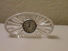 Waterford Lead Crystal Silver Rim Oval Desk Clock