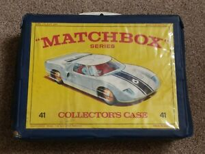 VTG 1970 MATCHBOX COLLECTORS CARRY CASE FOR 48 CARS. GOOD CONDITION w/ 4 TRAYS