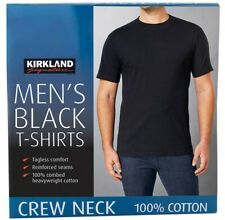 NIP Kirkland Signature Mens 4 PACK GRAY Crew Neck T-Shirt Medium Undershirts M