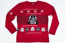 Star Wars Christmas Mens Jumper Size XL Red Darth Vader Official Merchandise