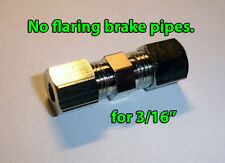 "Brake Line Pipe Inline Connector Coupler no flare (4.75mm or 3/16"")"