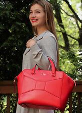 Kate Spade LARGE 2 Park Avenue Beau Bag RED MARASCHN SHOPPER HANDBAG TOTE TRAVEL
