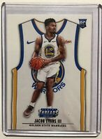 2018-19 Jacob Evans III RC Golden State Panini Threads Home Jersey Icon SP #127
