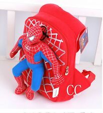 Children Toddler Kids Kindergarten Spiderman Plush Doll School Bag Backpack OOO