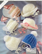 BABY  CROCHET  PATTERN  baby hats prem / 2 yrs dk and aran