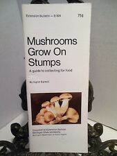 VG Mushrooms Grow On Stumps Edible Wild Food Collecting Foraging Identify Guide