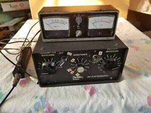 Vintage Dentron 160-10 antenna tuner transmatch ham tube radio & Micronta Tester