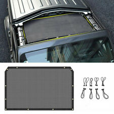 Sunshade Mesh Top Cover Roof UV Sun Protection For Jeep JL Wrangler 2018-2020