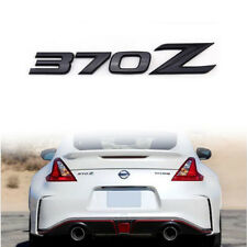 3D Matte Black 370Z Badge Emblem Letter Rear Letter Sticker for 2009-up Nissan