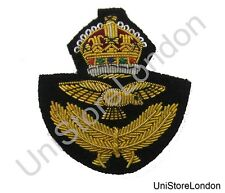Badge RAF Officer's Beret Badge With King's Crown R949