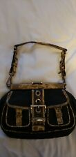 Authentic Prada Black Nylon Lizard Purse Bag