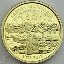 Canada 2013 $100 100th Anniversary Canadian Arctic Expedition 14k Gold Proof