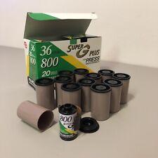 12 Roll Lot Fujifilm Super G Plus 800 Fuji Color Neg Film C-41 - Expired 2000