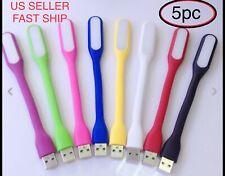 5 PCS Flexible Bright Mini USB LED Light Lamp for Notebook Laptop Desk Reading