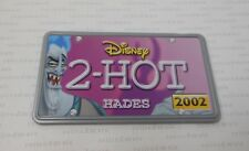 2002 Hasbro Disney Wild Racers HADES 2-HOT Hercules Diecast Car's License Plate