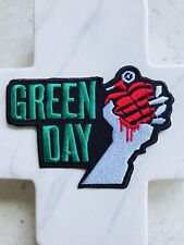 Green Day Heart Grenade Thrash Music Punk Rock Band Grunge Iron On Patches Patch