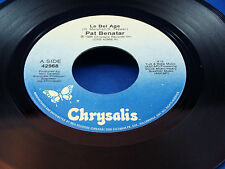 PAT BENATAR - Le Bel Age / Walking In The Underground - 1986 VG++  CANADA PRESS
