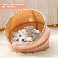 Cat Dog Foldable Sleeping Nest Pad Bed Canopy Kitty Mat Tent For Winter & Summer