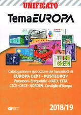 CATALOGO UNIFICATO TEMA EUROPA CEPT 2018-19 nuovo