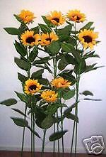Artificial silk Giant Sunflower plant & flowers 9pc F18