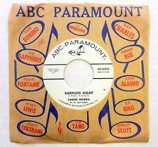 LAMAR MORRIS 45 Sleepless Night ABC PARAMOUNT Teenage POP VG++ #B564