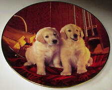 "Lab Pups Fireside Friends Royal Doulton Franklin Mint 8"" Collector Plate D-903"