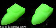 NEW Lego Glow In Dark 1x1 PLATE w/TOOTH - Minifig Ice Skates - Pair Animal Teeth